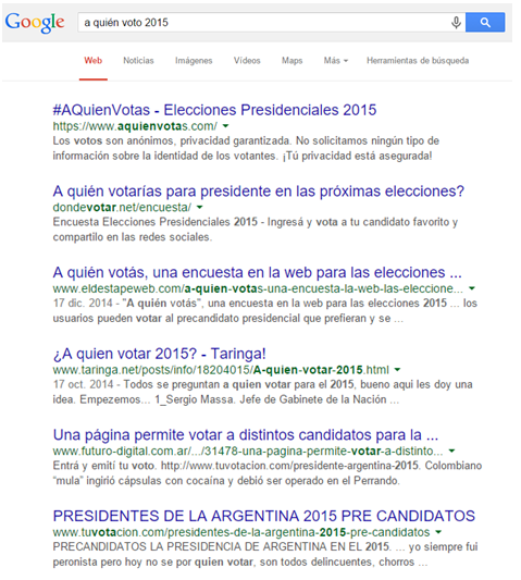 A quién voto  2015